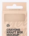 Kraft Box w/ Crayons Mockup