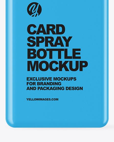 Matte Card Spray Bottle Mockup
