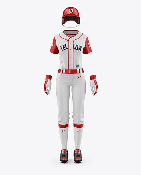 Women's Full Baseball Kit Mockup