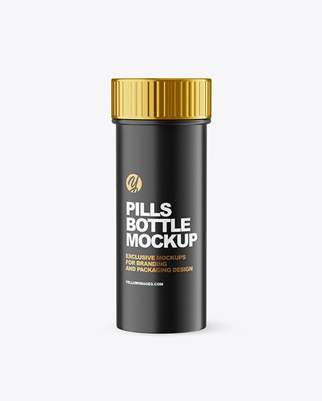 Matte Plastic Pills Bottle Mockup