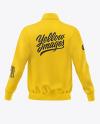 Men's Full-Zip Sweatshirt Mockup - Back View