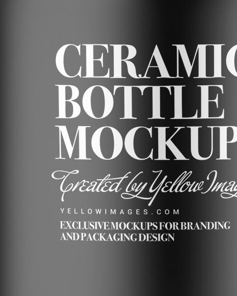 Matte Ceramic Cosmetic Bottle Mockup