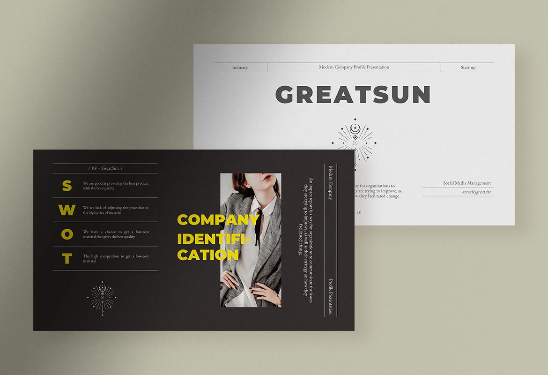 GreatSun Modern Company Presentation
