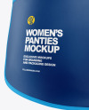 Woman's Panties Mockup - Back View