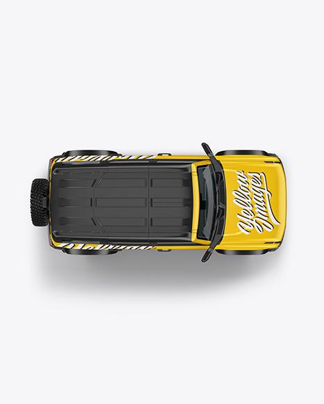 Off-Road SUV Mockup - Top View