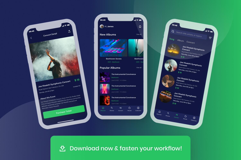 Listen - Music Mobile UI Kit