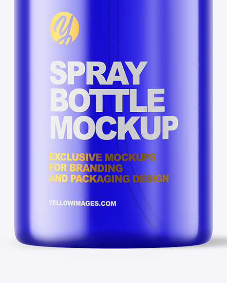 Color Plastic Bottle with Pump Mockup