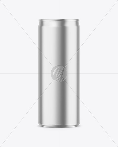 250ml Matte Metallic Drink Can Mockup