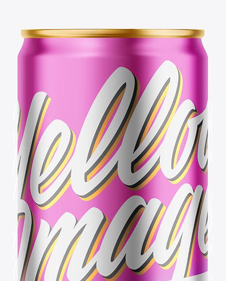 330ml Matte Metallic Drink Can Mockup