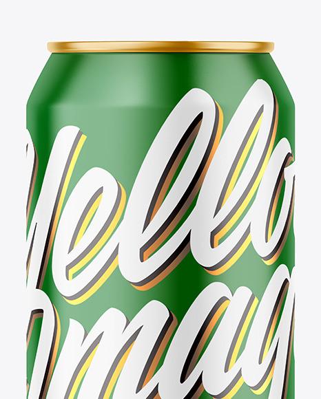 500ml Matte Drink Can Mockup
