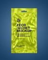 Glossy Metallic Sachet Mockup