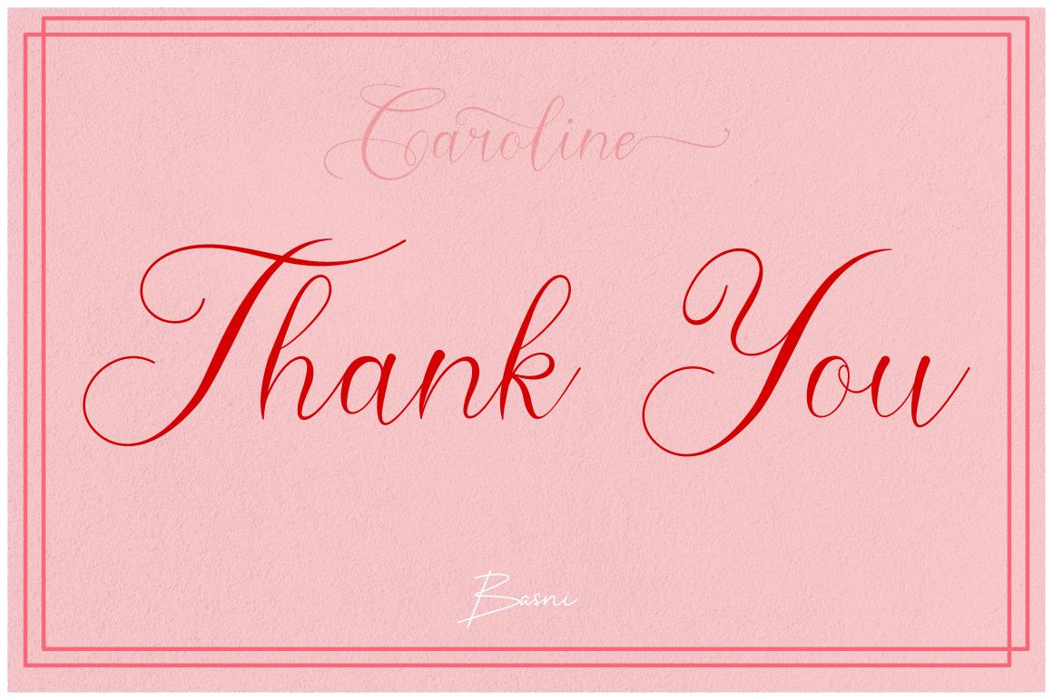 Caroline - Modern Calligraphy