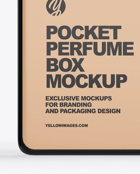 Pocket Perfume With Kraft Box Mockup