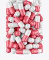 Amber Glass Pills Bottle Mockup