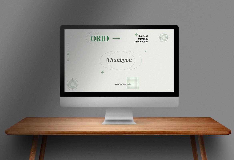 Orio - Company Profile Presentation