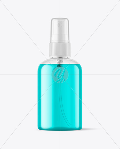 Clear Cosmetic Spray Bottle Mockupp