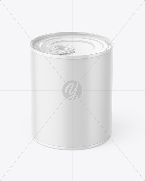 Matte Tin Can With Pull Tab & Matte Finish Mockup