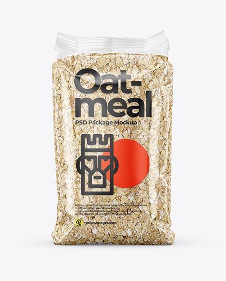 Oatmeal Package Mockup