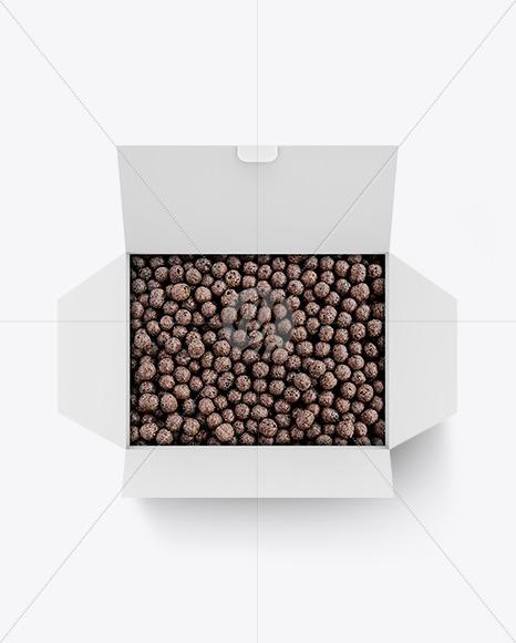 Paper Box With Chocolate Balls Mockup