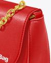 Leather Bag Mockup - Half Side View