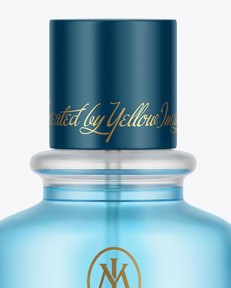 Frosted Glass Perfume Bottle Mockup