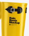 Glossy Rain Boots Mockup