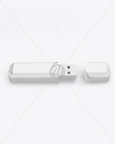 Textured USB Flash Drive Mockup