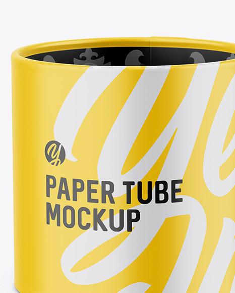 Opened Paper Tube Mockup