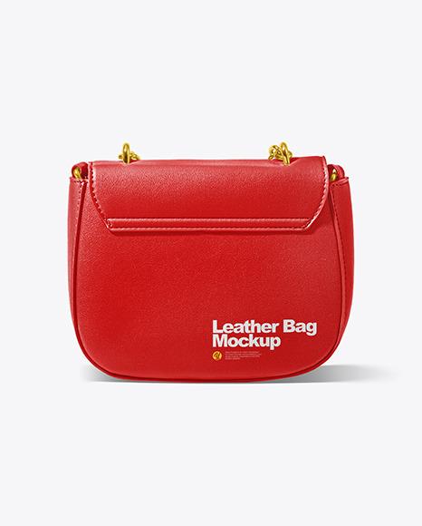 Leather Bag Mockup - Back View