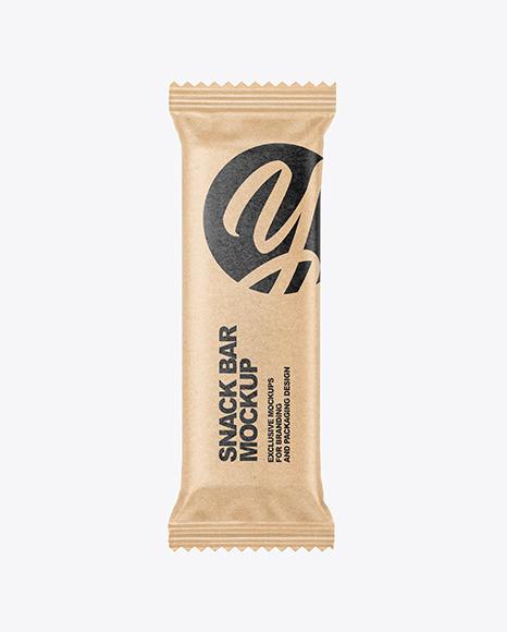 Kraft Paper Snack Bar Mockup
