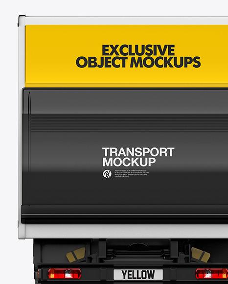 Box Truck Mockup - Back View