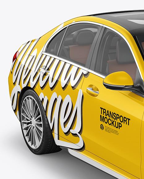 Compact Executive Car Mockup - Half Side View