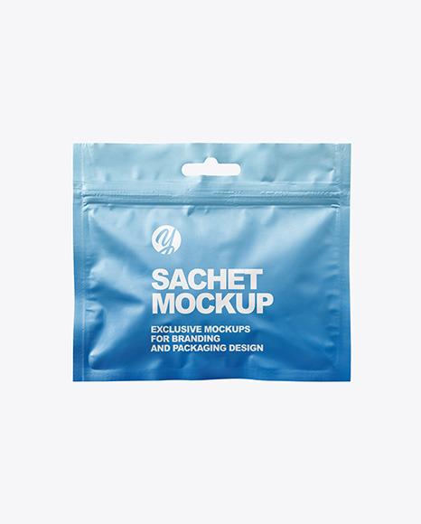 Matte Sachet with Zip Lock Mockup