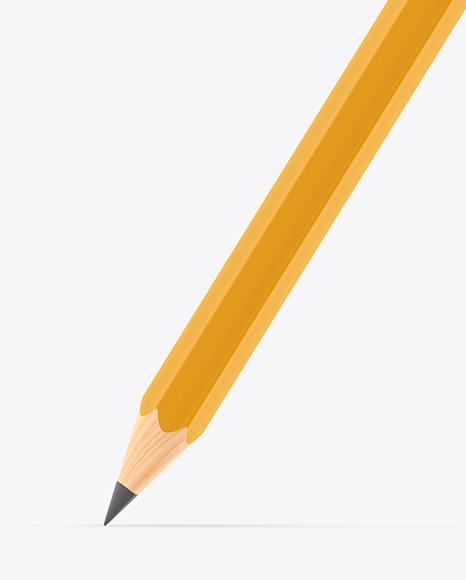 Hexagon Pencil Mockup