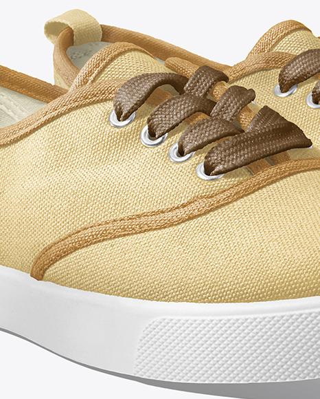 Two Sneakers Mockup - Half Side View