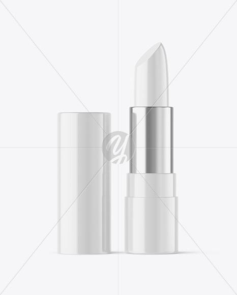 Glossy Lipstick Tube Mockup