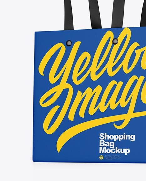 Matte Shopping Bag Mockup
