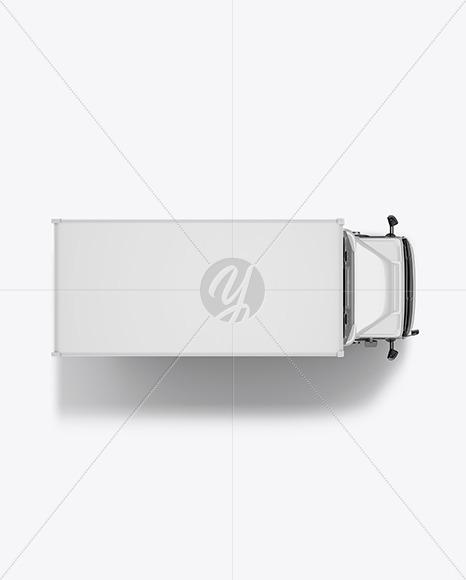 Box Truck Mockup - Top View