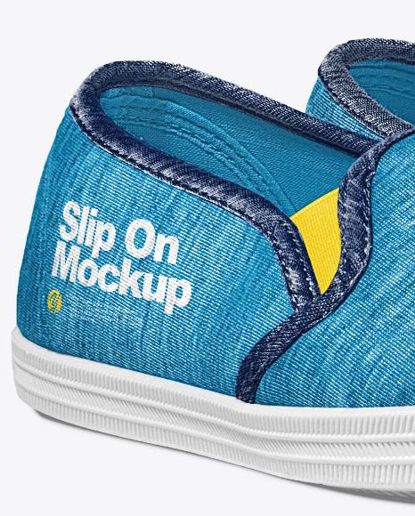 Slip-Ons Mockup – Half Side View
