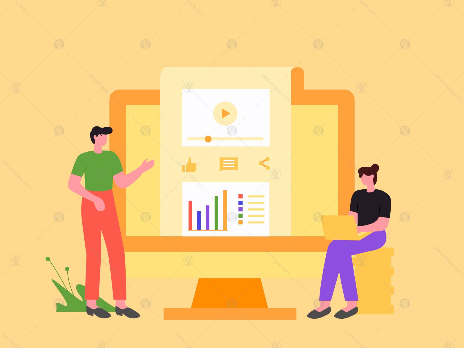 Digital Marketing Illustration Vol 1