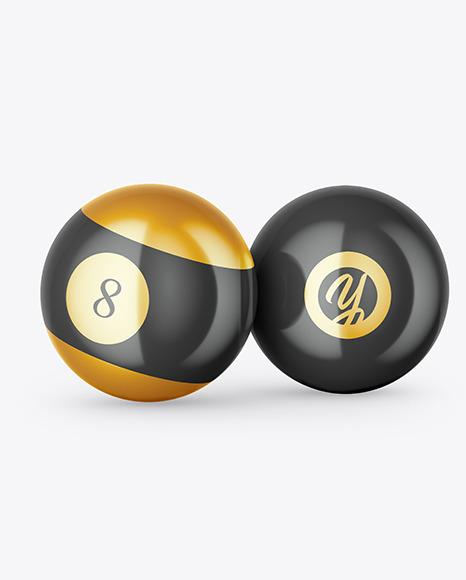Billiard Balls Mockup