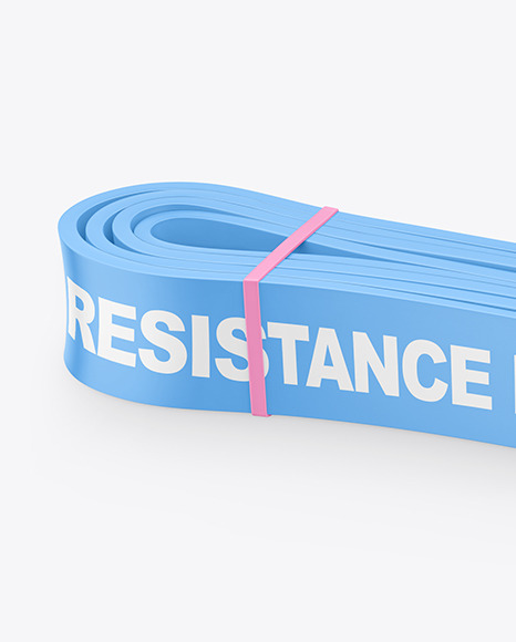 Matte Resistance Band Mockup
