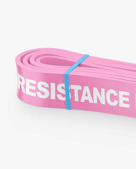 Glossy Resistance Band Mockup
