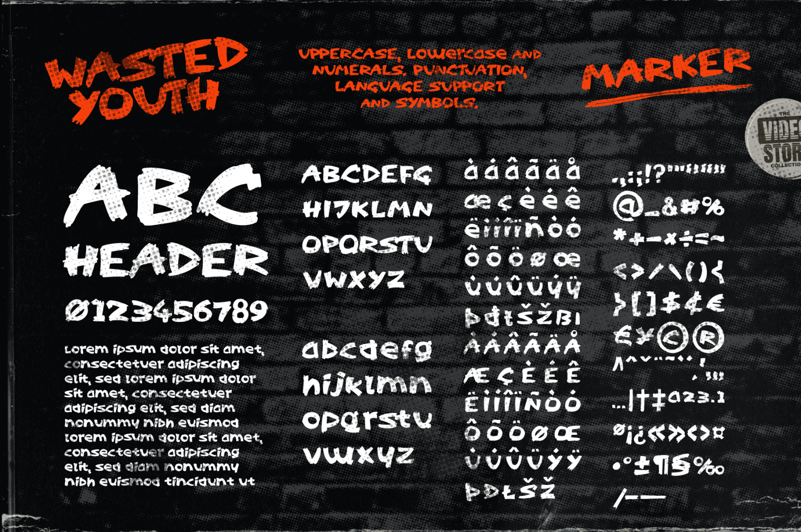 Wasted Youth: A 90s Grunge Inspired Brush Font
