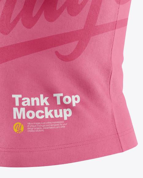 Women's Tank Top Mockup- Half-Side View
