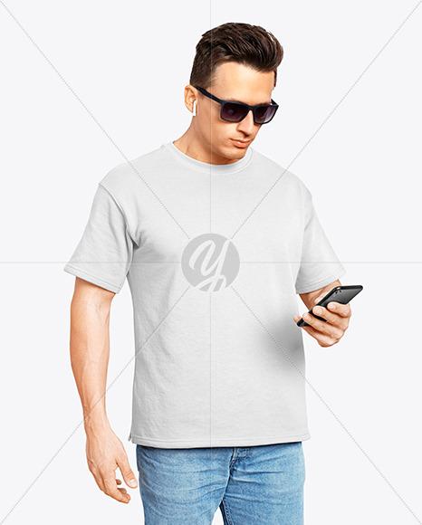 Man in a T-Shirt Mockup