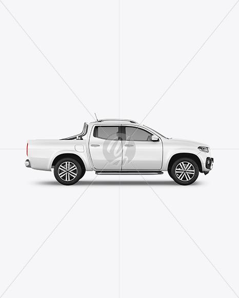 Luxury Pickup Truck Mockup - Side View