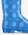 Glossy Rain Boot Mockup
