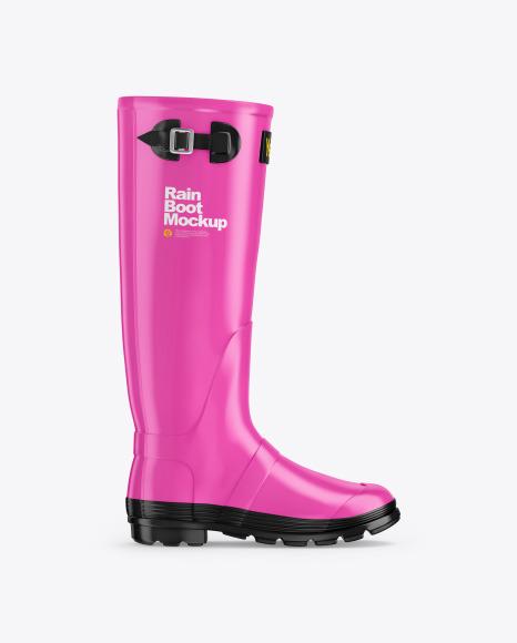 Matte Rain Boot Mockup