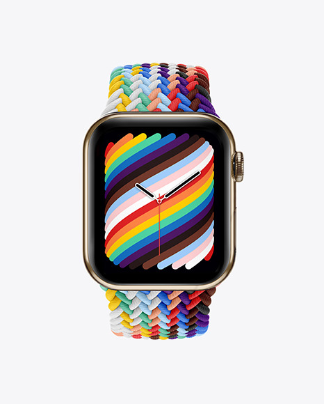 Apple Watch Series 6 with Stainless Steel Case Mockup